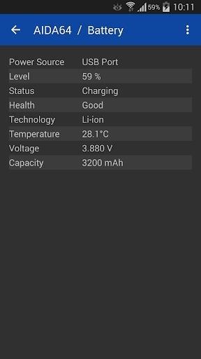 Скриншот AIDA64 Premium для Андроид