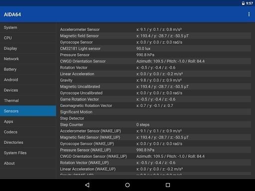 Приложение AIDA64 Premium для Андроид