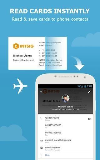 Приложение CamCard — Business Card Reader для Андроид