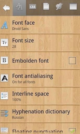Скриншот Cool Reader для Андроид