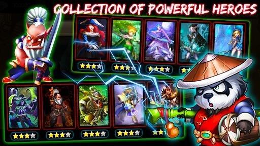 Скриншот Defender Heroes: Castle Defense — Epic TD Game для Андроид