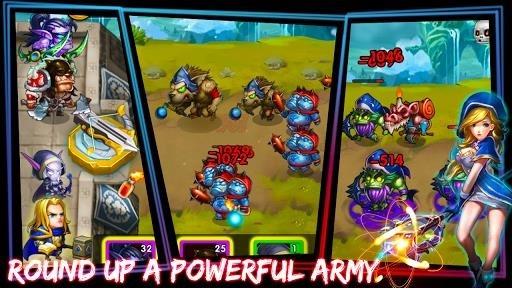 Приложение Defender Heroes: Castle Defense — Epic TD Game для Андроид