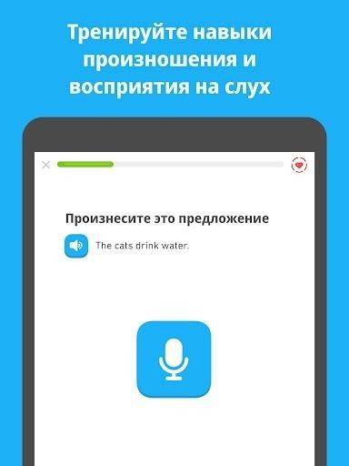 Приложение Duolingo для Андроид