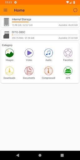Приложение Fennec File Manager для Андроид