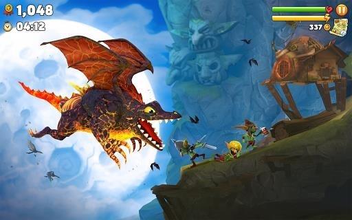Приложение Hungry Dragon для Андроид