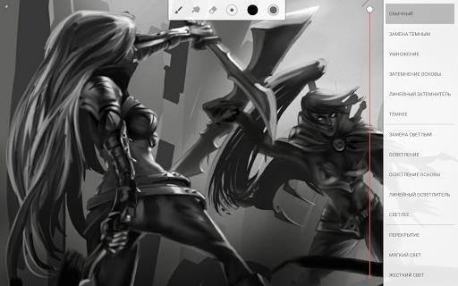 Приложение Infinite Painter для Андроид