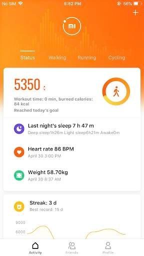 Приложение Mi Fit для Андроид