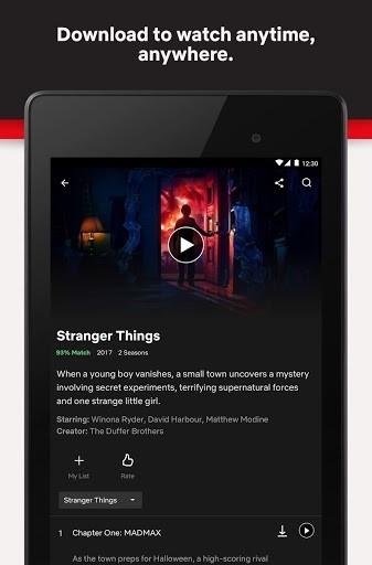 Приложение Netflix для Андроид
