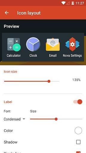 Скриншот Nova Launcher Prime для Андроид