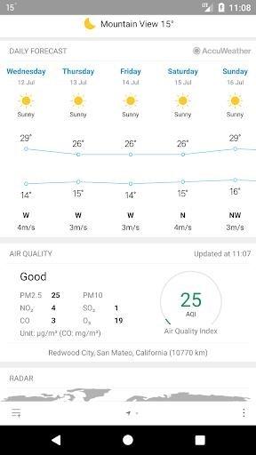 Приложение Погода M8 для Андроид