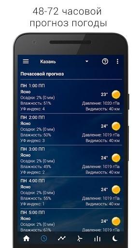 Приложение Прозрачные часы и погода Pro для Андроид