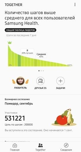 Samsung Health для Android