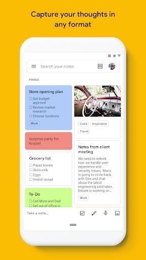Заметки Google Keep для Android