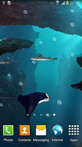 Скриншот Акулы 3D — Живые обои для Андроид