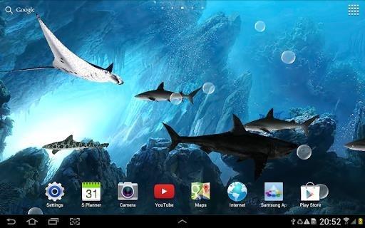 Акулы 3D — Живые обои для Андроид