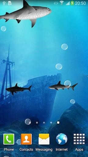 Акулы 3D — Живые обои для Android