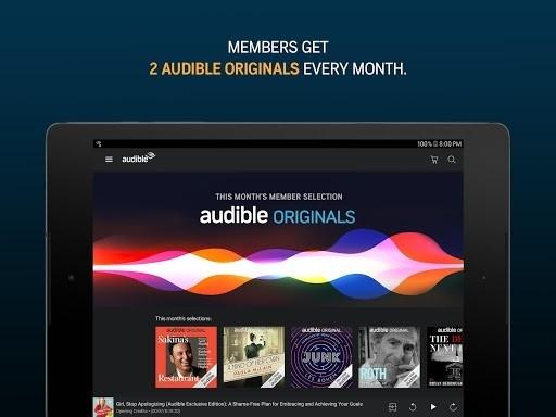 Приложение Audible для Андроид