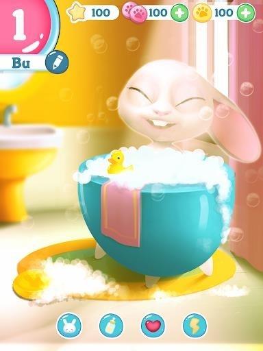 Скриншот Bu Кролик — Игра питомцы животным уход для Андроид