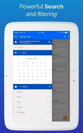 Diaro — личный дневник для Android