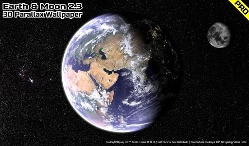 Earth & Moon in HD Gyro 3D PRO для Андроид