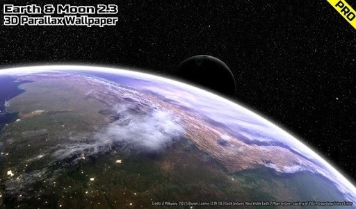 Earth & Moon in HD Gyro 3D PRO для Android
