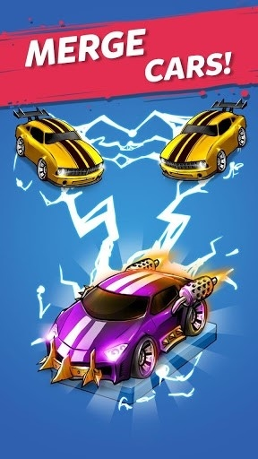 Скриншот Merge Battle Car Tycoon для Андроид