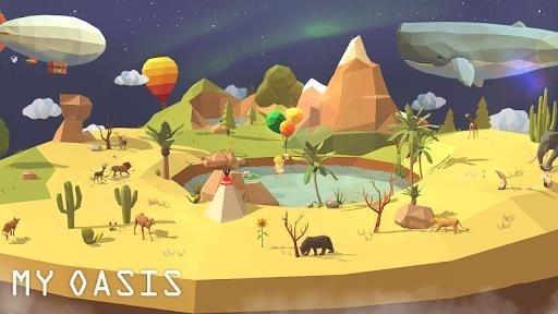Скриншот My Oasis — Tap Sky Island для Андроид