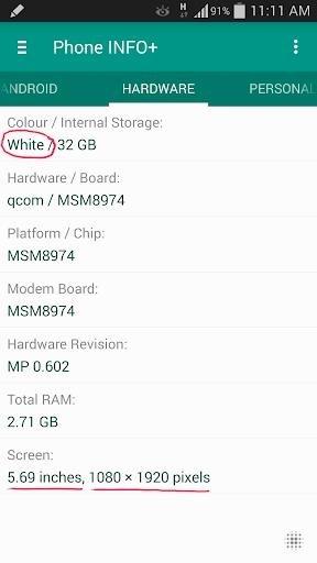Приложение Phone INFO для Андроид