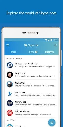 Приложение Skype Lite — Free Video Call & Chat для Андроид