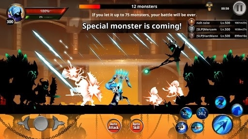 Скриншот Stickman Legends: Shadow Wars для Андроид