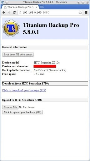 Скриншот Titanium Backup Pro для Андроид