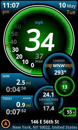 Скриншот Ulysse Speedometer Pro для Андроид