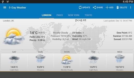 Виджет Погода и Часы для Android