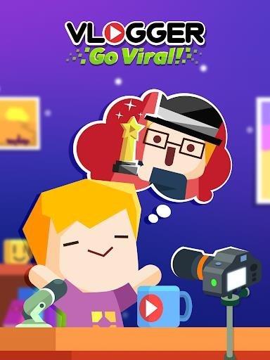 Скриншот Vlogger Go Viral — Clicker для Андроид