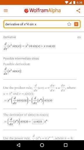 Скриншот WolframAlpha для Андроид