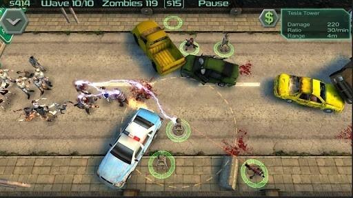 Скриншот Zombie Defense для Андроид