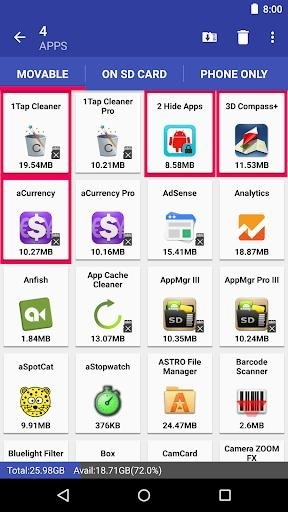 Скриншот AppMgr III для Андроид