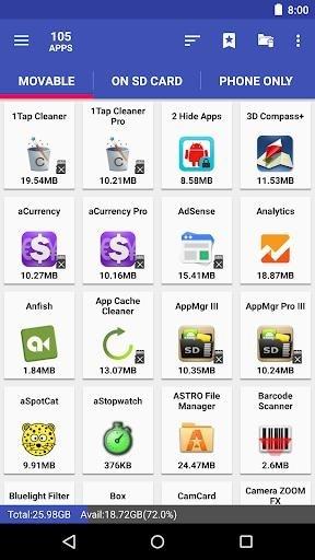 Приложение AppMgr III для Андроид