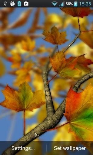 Autumn Leaves in HD Gyro 3D Parallax Wallpaper для Андроид
