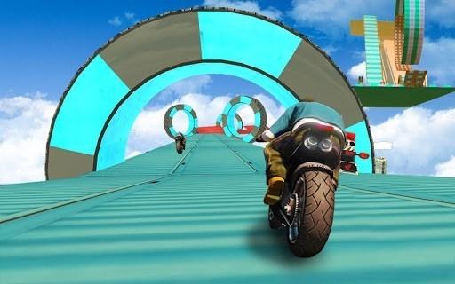 Скриншот Bike Impossible Tracks Race: 3D Motorcycle Stunts для Андроид