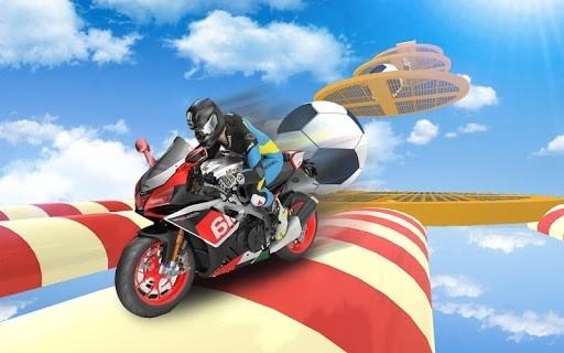 Приложение Bike Impossible Tracks Race: 3D Motorcycle Stunts для Андроид