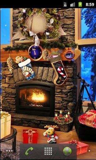 Скриншот Christmas Fireplace LWP Full для Андроид