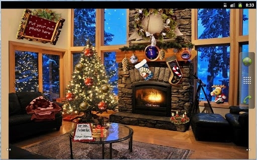 Christmas Fireplace LWP Full для Android