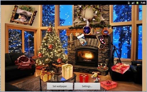 Приложение Christmas Fireplace LWP Full для Андроид