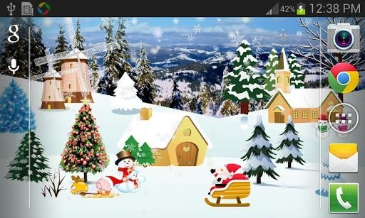 Christmas Live Wallpaper Full для Android