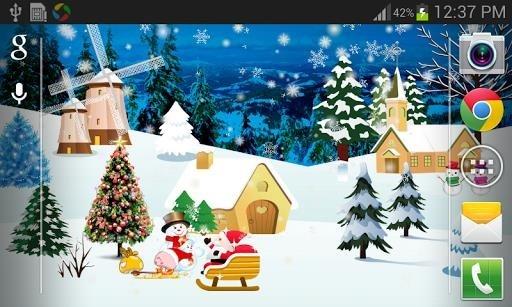 Приложение Christmas Live Wallpaper Full для Андроид