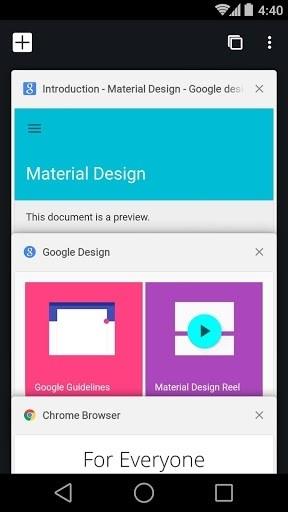 Скриншот Chrome Dev для Андроид