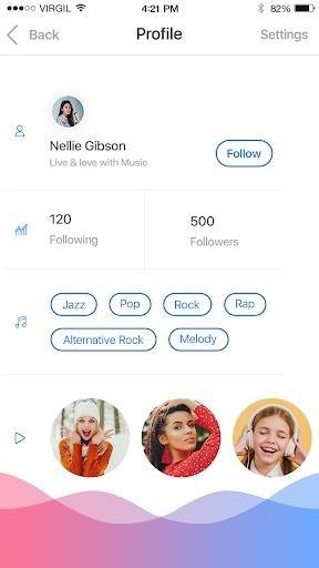 Приложение Dub Music Player для Андроид