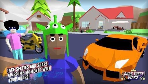 Приложение Dude Theft Auto: Open World Sandbox Simulator для Андроид