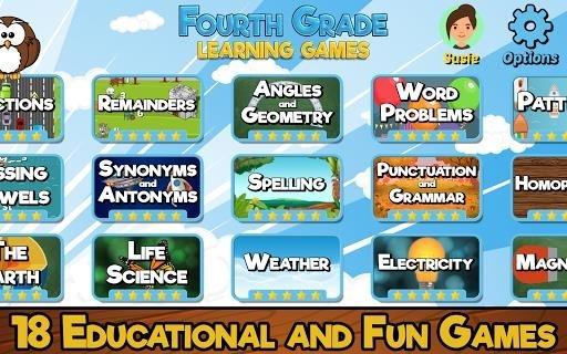 Скриншот Fourth Grade Learning Games для Андроид